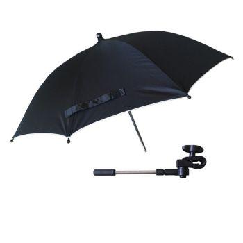 Универсальный зонт для колясок черный