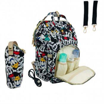 Рюкзак для мам черный водоотталкивающий с Термосумкой и USB Дисней