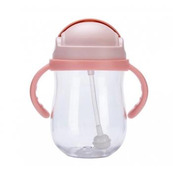 Бутылочка-непроливайка для кормления розовая