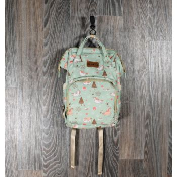 Рюкзак для мам мятные единороги