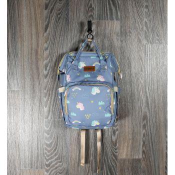Рюкзак для мам синие единороги