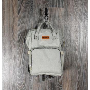 Рюкзак для мам светло-серый