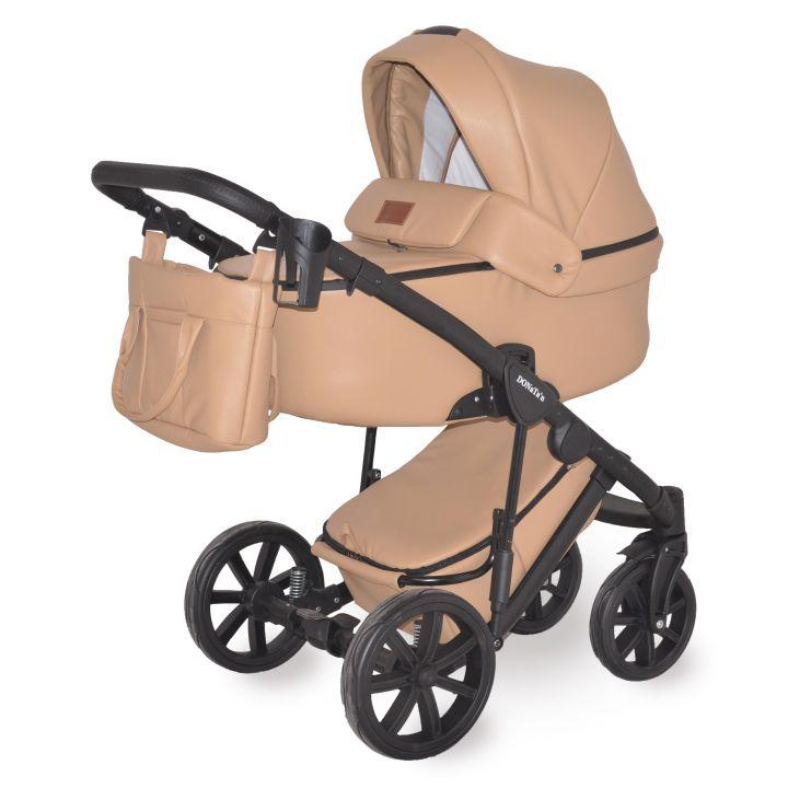 Универсальная коляска 2в1 Donatan Monako Бежевая экокожа