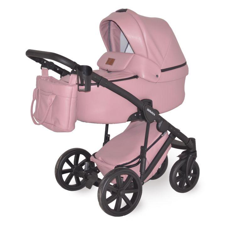 Универсальная коляска 2в1 Donatan Розовая экокожа
