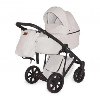 Универсальная коляска 2в1 Donatan Sonata Белая экокожа