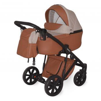Универсальная коляска 2в1 Donatan Sonata Шоколад экокожа