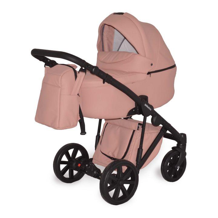 Универсальная коляска 2в1 Donatan Sonata Персик экокожа