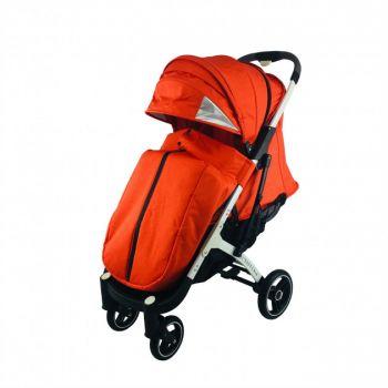 Yoya Plus Pro 21+ 4 Оранжевая, рама черная/белая